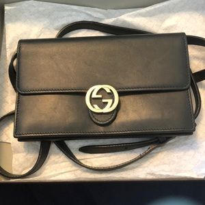 Gucci wallet with strap